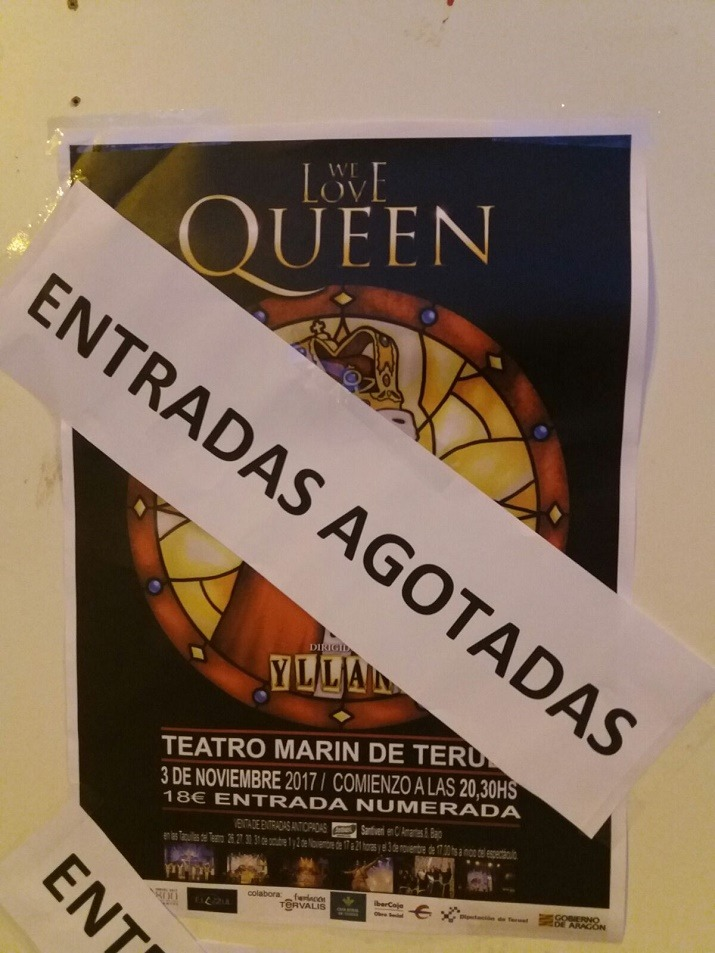 Agotadas las entradas para el espectaculo we love queen for Entradas para espectaculos