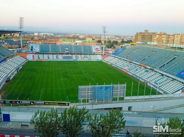 Una imagen del imponente estadio del LLeida Esportiu