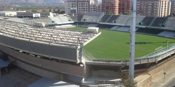 Una vista del estadio Castalia, donde mañana jugará el CD Teruel