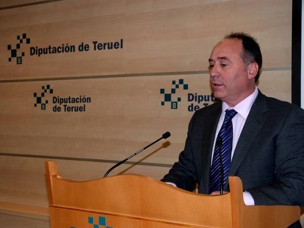 el diputado delegado del Área de Cultura de la Diputación Provincial de Teruel, Miguel Iranzo
