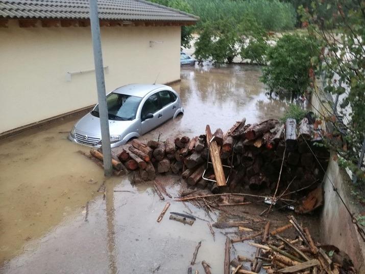 Imagen del Chalet de donde han sido evacuadas las once personas