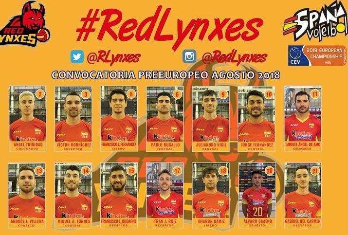 Selección española para el preeuropeo voley