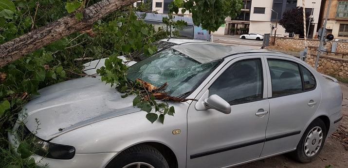 Detalle de uno de los vehículos afectados