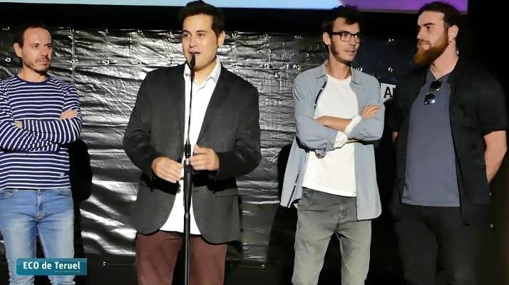 En la imagen los protagonistas de la presentación de anoche. De izquierda a derecha, Francho Gallego, Alberto Navas, Fran Muñoz y Carlos Alonso