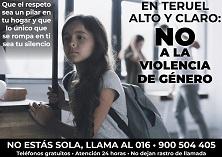 Teruel ciudad del amor// 800 ANILOGO AYTO TERUEL// 016 llama no violen.genero