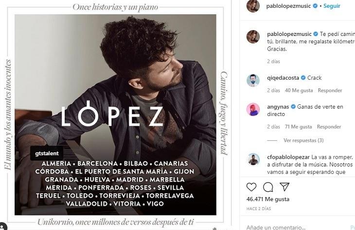Pablo López Actuará En Teruel Este Verano Eco De Teruel