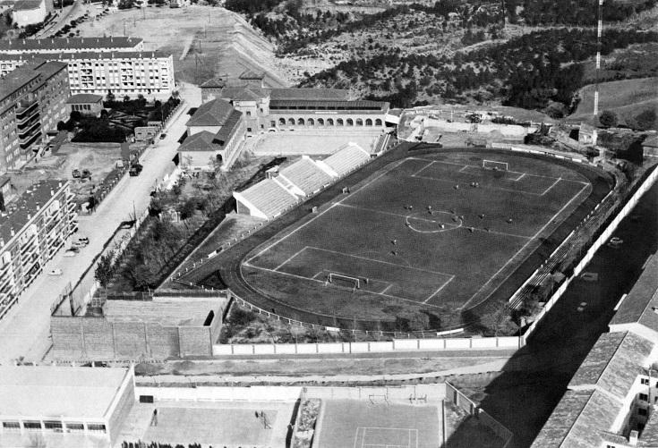 La foto del día de hoy, del libro «El Teruel que fue(1968-1975)».La zona del Hospital, Pinilla y Parque en 1971
