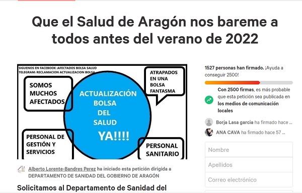 Piden al Salud que actualice la bolsa de trabajo del personal sanitario en Aragón