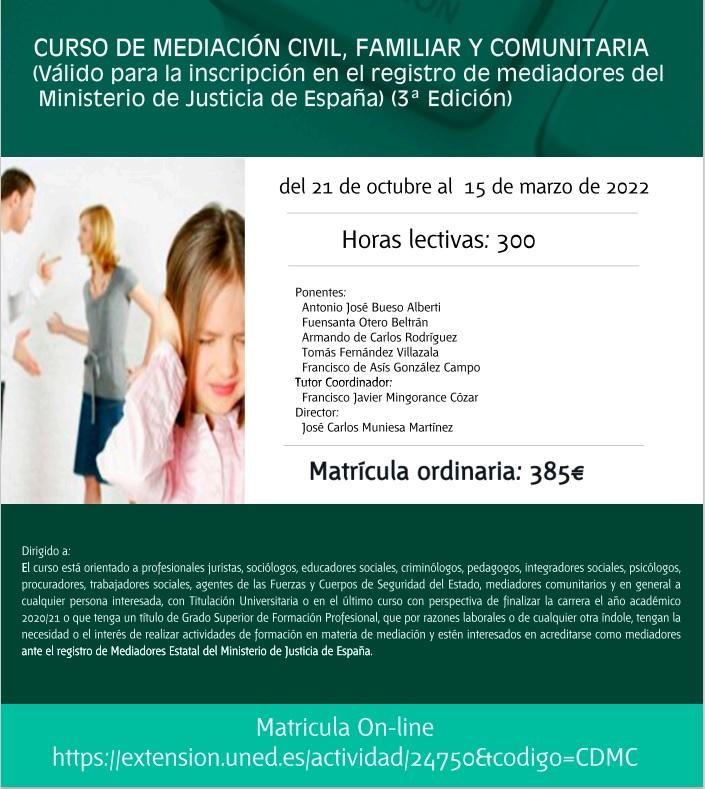 Mañana jueves se presenta una nueva edición del curso de mediación de la UNED Teruel